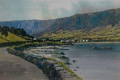 Paul Holmes, Irish artist, Antrim Irish Art, Ireland, Art Gallery, River, Artists, Mountains, Nature, Outdoor, Outdoors