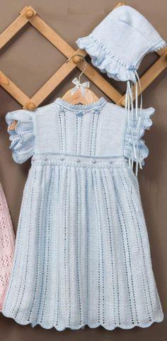 Dress and bonnet knitting pattern free