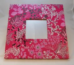 Lovely Pink Decopatch Paper Decoupaged Mirror - Free P Paper Art, Paper Crafts, Diy Crafts, Diy Projects To Try, Projects For Kids, Decopatch Ideas, Hobbies And Crafts, Arts And Crafts, Fabric Glue