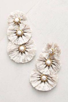 Fringed Pearl Drop Earrings