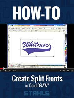 Ever wonder how to create a split front sports jersey in CorelDRAW? We can show you how. Stahls.com and Stahls.ca #vinylcutter #htv #baseball