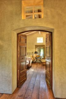 Venetian Plaster, reclaimed French floor boards. ©Dave Adams Photography