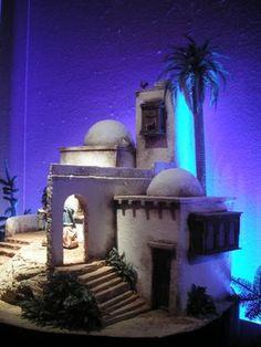Fontanini Nativity, Diy Nativity, Christmas Nativity Scene, Christmas Crib Ideas, Garden Nook, Magic House, Hobby House, Modelos 3d, Miniature Houses