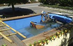 Lekker koel zwembad BMW