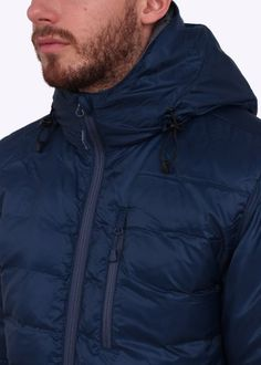 Canada Goose Lodge Hooded Down Jacket - Spirit Blue - Canada Goose from Triads UK