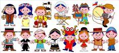 Ilustraciones para compartir Teaching Spanish, Clip Art, Activities, Dolls, Comics, Illustration, Fictional Characters, Geography, Mariana