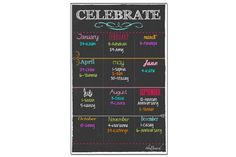 Dry Erase Yearly Birthday Board   Marker