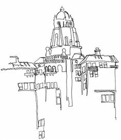Continual line contour drawing....Brenda Swenson: 75 Day Sketch Challenge