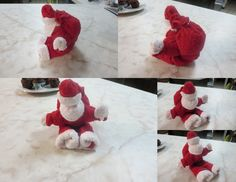 washcloth folding craft santa