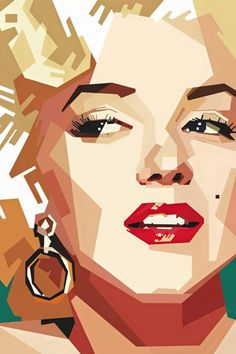 Marilyn Monroe Pop Art ...... low poly.