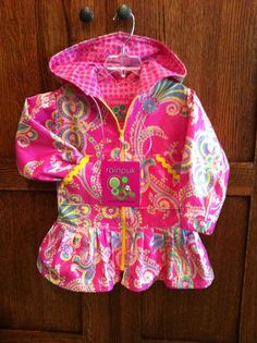 Hot Pink Alaska Rainpuk Kuspuk Raincoat for Little by rainpuk, $84.00