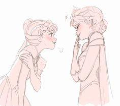 making Elsa giggle
