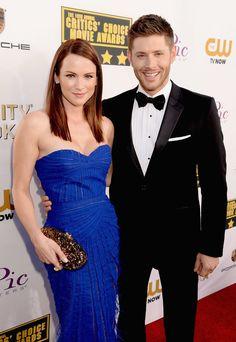 Jensen Ackles & wife at 2014 Critics Choice Awards
