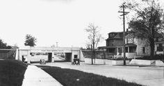 The Grand Trunk Western Railroad viaduct at 11 Mile Road (1931)