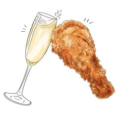 There's more to the combination of fried chicken and Champagne than just the novelty of high-brow drinking with low-brow dining. Learn why this is a classic pairing.