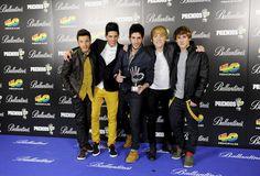 El grupo español Auryn en los Premios 40 Principales #cantantes #música #famosos