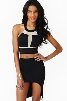 Shape Shift Crop Top in Black