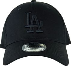 New Era 39Thirty Los Angeles Dodgers League Essential Baseball Cap. Black 5af140cbae8c