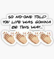 Friends Stickers Friends theme x Emojis – so no-one told you life was gonna be this way. Bubble Stickers, Meme Stickers, Cool Stickers, Printable Stickers, Laptop Stickers, Friends Tv Quotes, Friends Moments, Friends Tv Show, Friend Jokes