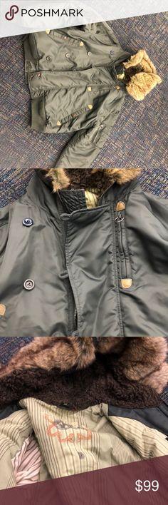 50924ad241 Diesel winter coat - high quality- Venomous trails Diesel Women Winter Coat  Hooded Faux Fur Parka Venomous Trails 4 outside pockets