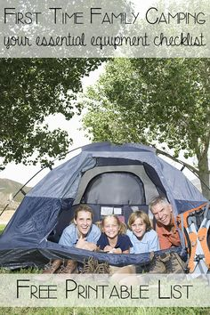 Setting off for your first family camping trip can be daunting especially if you don't have the equipment already. Here's our family camping equipment check list that includes the essentials for easing you into family camping for the first time