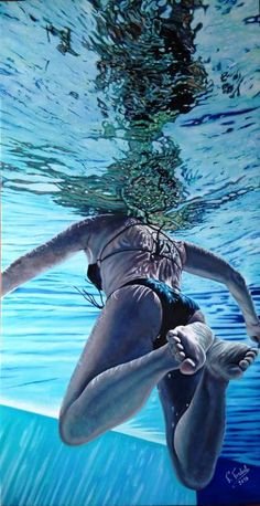 Underwater Images, Underwater Painting, Underwater Photography, Reflection Art, Realistic Paintings, Doja Cat, Ap Art, Pictures To Paint, Portrait Art