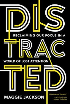 This visionary book details the steep costs of our deepening crisis of distraction and reveals remarkable scientific discoveries that can help us rekindle our powers of focus and sustained attention. Think Deeply, Letter Form, Wake Up Call, Typography Fonts, Lettering, Book Design, Design Ideas, Problem Solving, Book Format