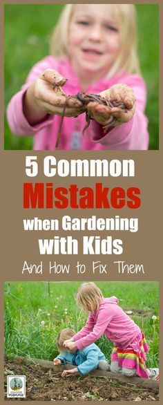 5 Common Mistakes when Gardening with Kids - And How to Fix Them. Experienced gardeners share their best tips and tricks for success when sharing your garden with young children! Rain or Shine Mamma. #gardening #kids #mistakes #tips #tricks