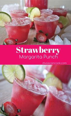 Strawberry Margarita Punch Recipe ~ So good! - - Fresh strawberries, orange juice, limeade, soda, triple sec and tequila makes one refreshing sparkling strawberry margarita punch. Great for parties or pool side. Tequila Punch, Tequila Drinks, Wine Drinks, Cocktail Drinks, Cocktail Recipes, Alcohol Punch, Easy Cocktails, Champagne Punch Recipes, Painkiller Cocktail
