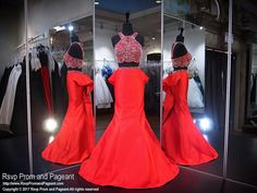 This gorgeous red gown is stunning with its beaded top and form fitting skirt, and it's at Rsvp Prom and Pageant, your source for the HOTTEST Prom and Pageant Dresses!