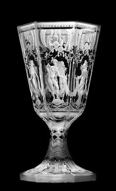 Simon Gate, Orrefors engraved glass vase