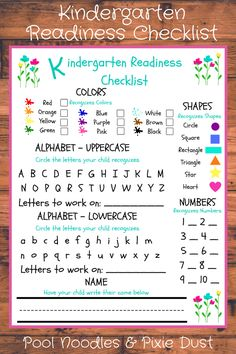 Kindergarten Readiness Checklist - Phonics Curriculum Choices for Preschool & Kindergarten - Pool Noodles & Pixie Dust