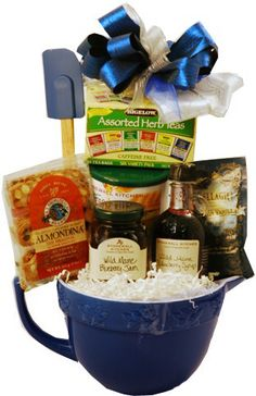 Great gift ideas on pinterest holiday gift baskets for Christmas kitchen gift basket ideas