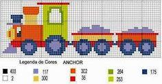 Resultado de imagem para graficos de alfabeto de trem em ponto cruz
