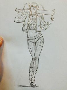Dessin Harley Quinn Suicide Squad par iamsunki