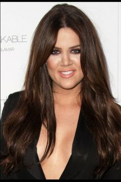 Chloe Kardashian With Gorgeous Brunette Tresses Pretty Brown Hair Long Brunette Hair Celebrity Hairstyles