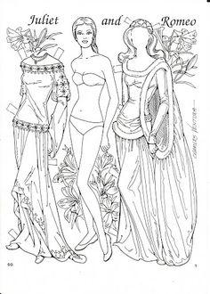 Romeo and Juliet Coloring Paper Dolls by Charles Ventura - Nena bonecas de papel - Веб-альбомы Picasa