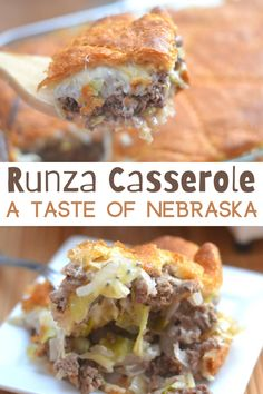 Runzas Recipe, Dinner Casserole Recipes, Supper Recipes, Runza Casserole, One Pot Dinners, Amish Recipes, Cooking 101, Beef Dishes