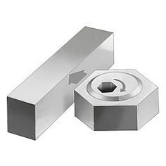 Excentrique de bridage hexagonal : permet de résoudre un très grand nombre de problèmes de serrage dans la construction d'outillages // Cam screw with hexagonal washer : allows numerous clamping problems in fixture and equipment construction to be solved // REF 04435
