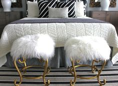 World's Easiest Upholstery Project: Mongolian Lambswool Stools | ModHomeEc