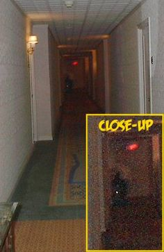 Man In Hallway Ghost Picture
