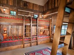 Style Bedroom Rustic Mountain Lodge