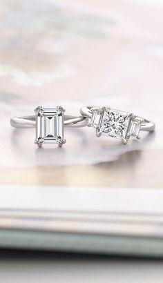 I just love emerald cut diamonds.