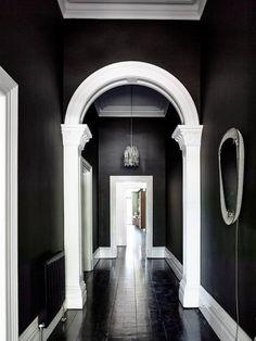 Brunswick House by Preston Lane - desire to inspire - desiretoinspire.net - black walls & black floor