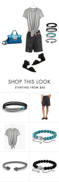 """Summer June 2017"" by bichonluvr ❤ liked on Polyvore featuring David Yurman, Eileen Fisher and Madewell"