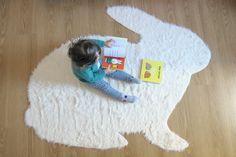 No Sew Rabbit Rug - DIY