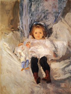 John Singer Sargent -  Ruth Sears Bacon; her face is so detailed but everything else is soft and fluttery chaos