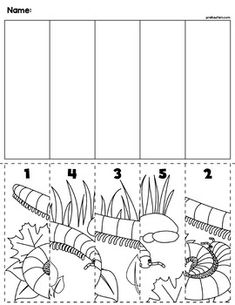 Spring Bugs Scene Number Sequence Puzzles by preKautism Cutting Activities, Kids Learning Activities, Preschool Worksheets, Number Sequence, Spring School, Practical Life, Bugs And Insects, Spring Crafts, Math Lessons