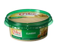 Tribe Hummus Classic (60 calories, 5 g fat per 2 tbsp)  Give peas a chance. Chickpeas, we mean. Eating about 1/2 cup daily of the high-fiber legumes can help you slim by cutting your intake of fatty foods. And in hummus form, chickpeas make a perfect party dip.