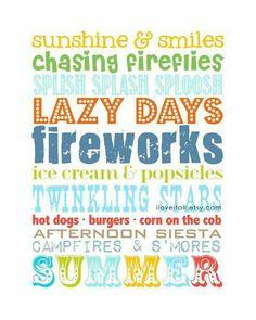 I love summer!!!!!!